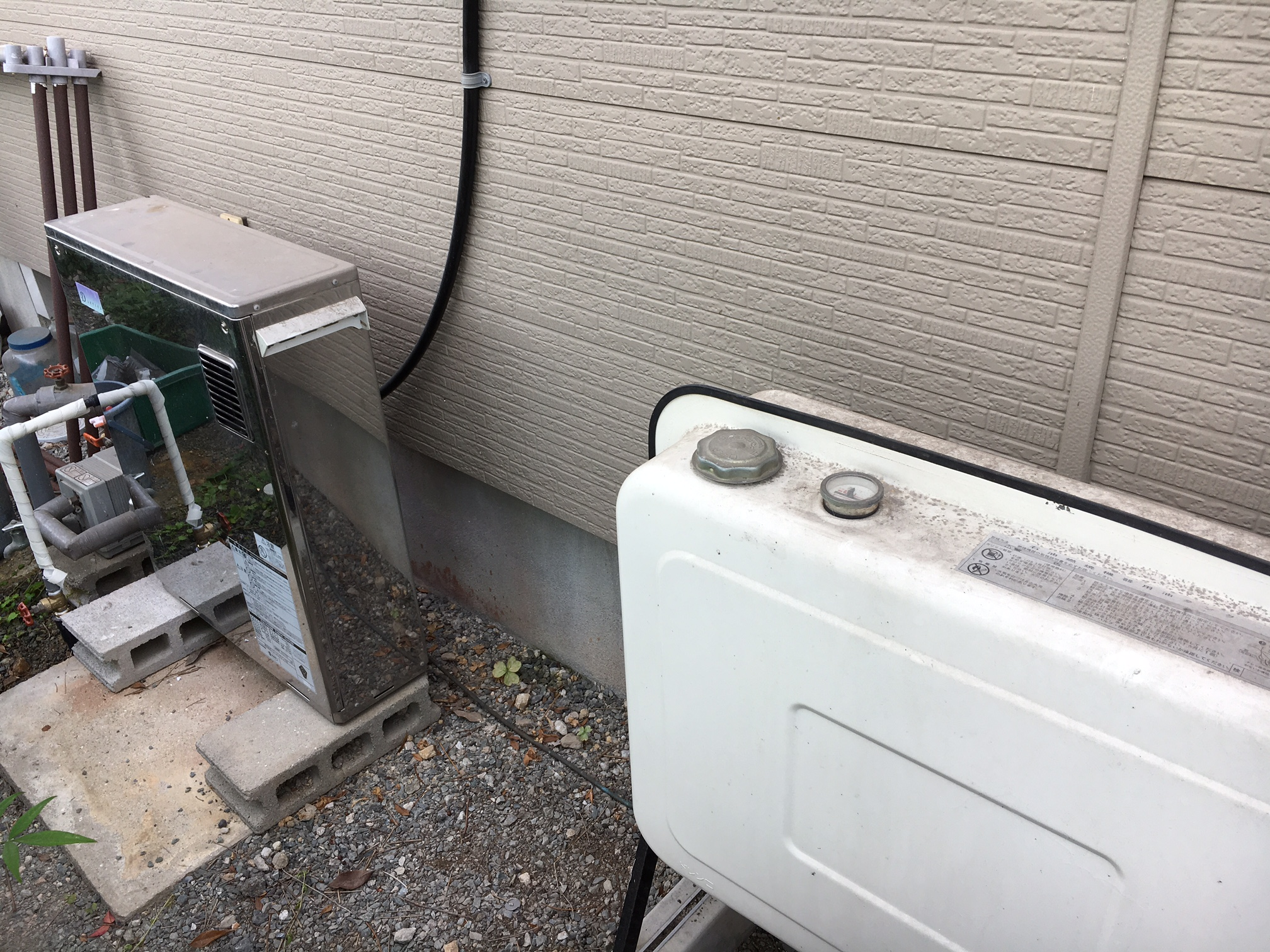 灯油ボイラ-からガス給湯器へ取替