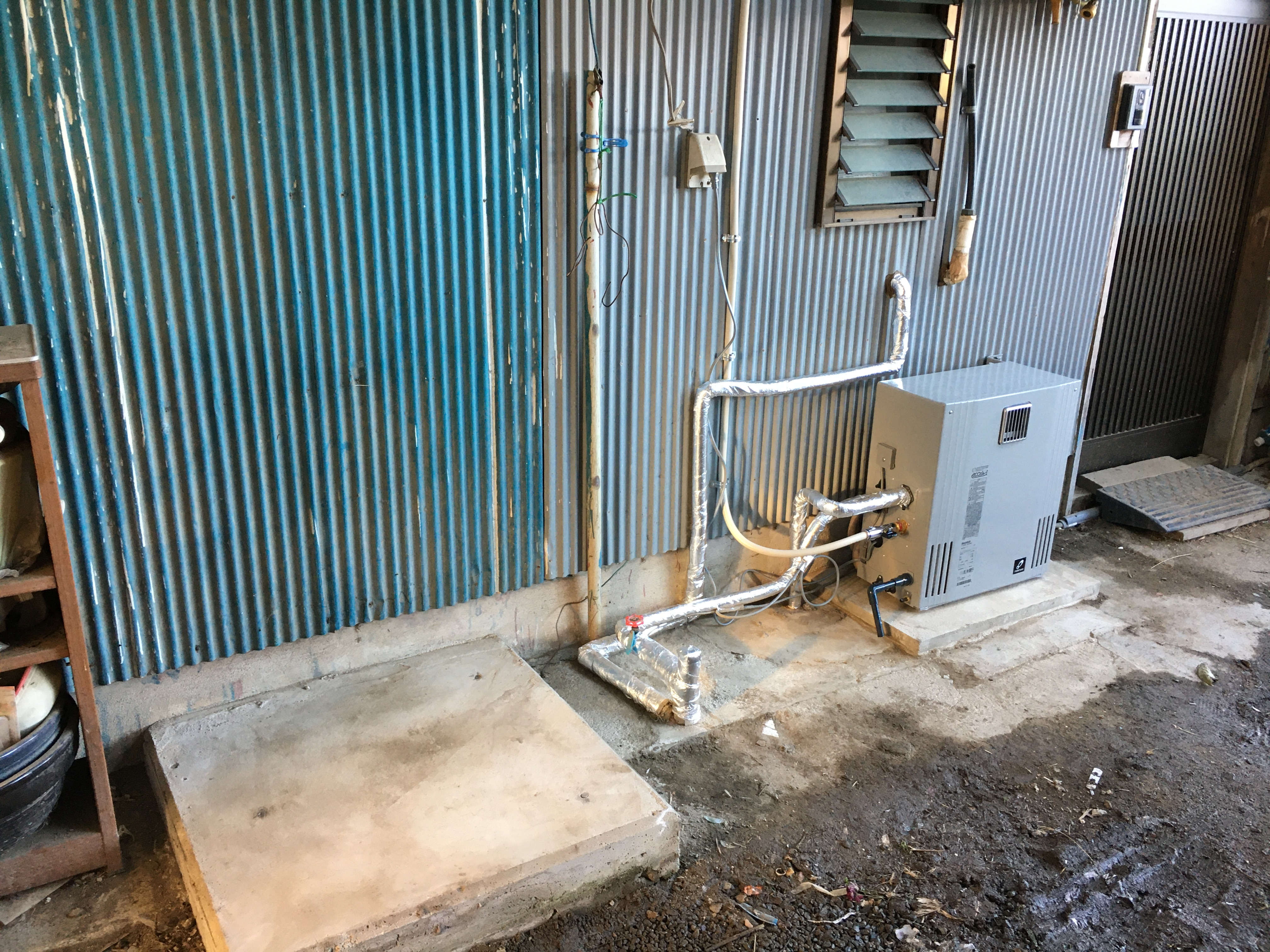 エコキュ-トからガス給湯器へ取替