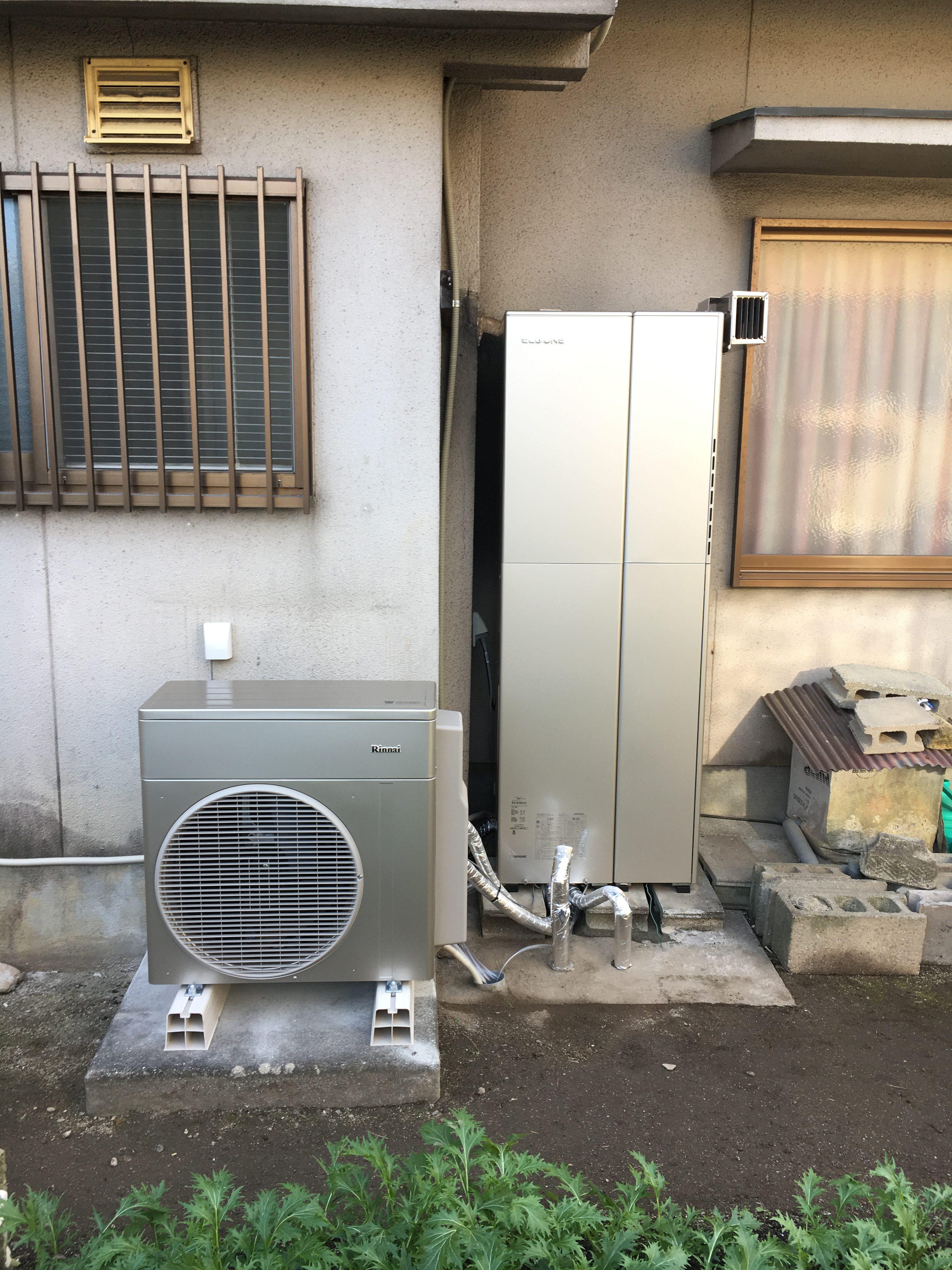 電気温水器からハイブリッド給湯器へ取替
