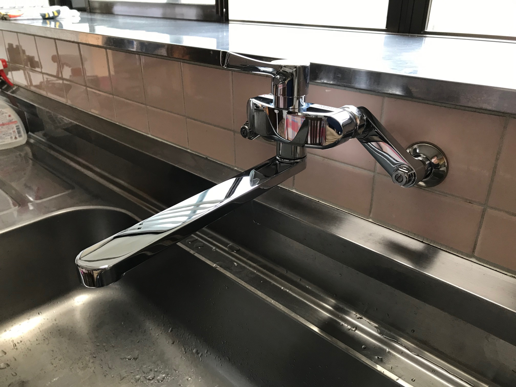 台所水栓取替