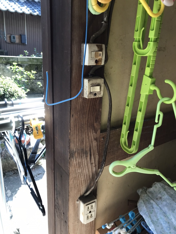 屋外照明器具取替
