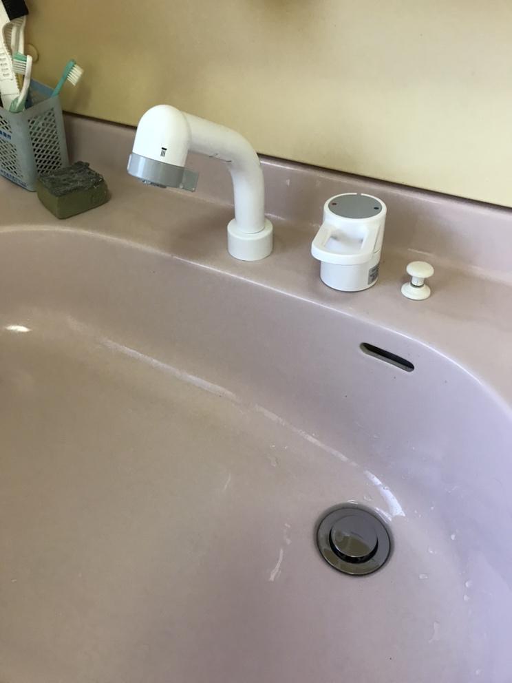 井戸ポンプ・洗面台水栓取替