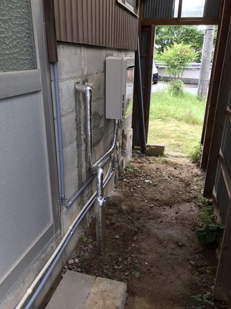 灯油ボイラーからガス給湯器へ取替