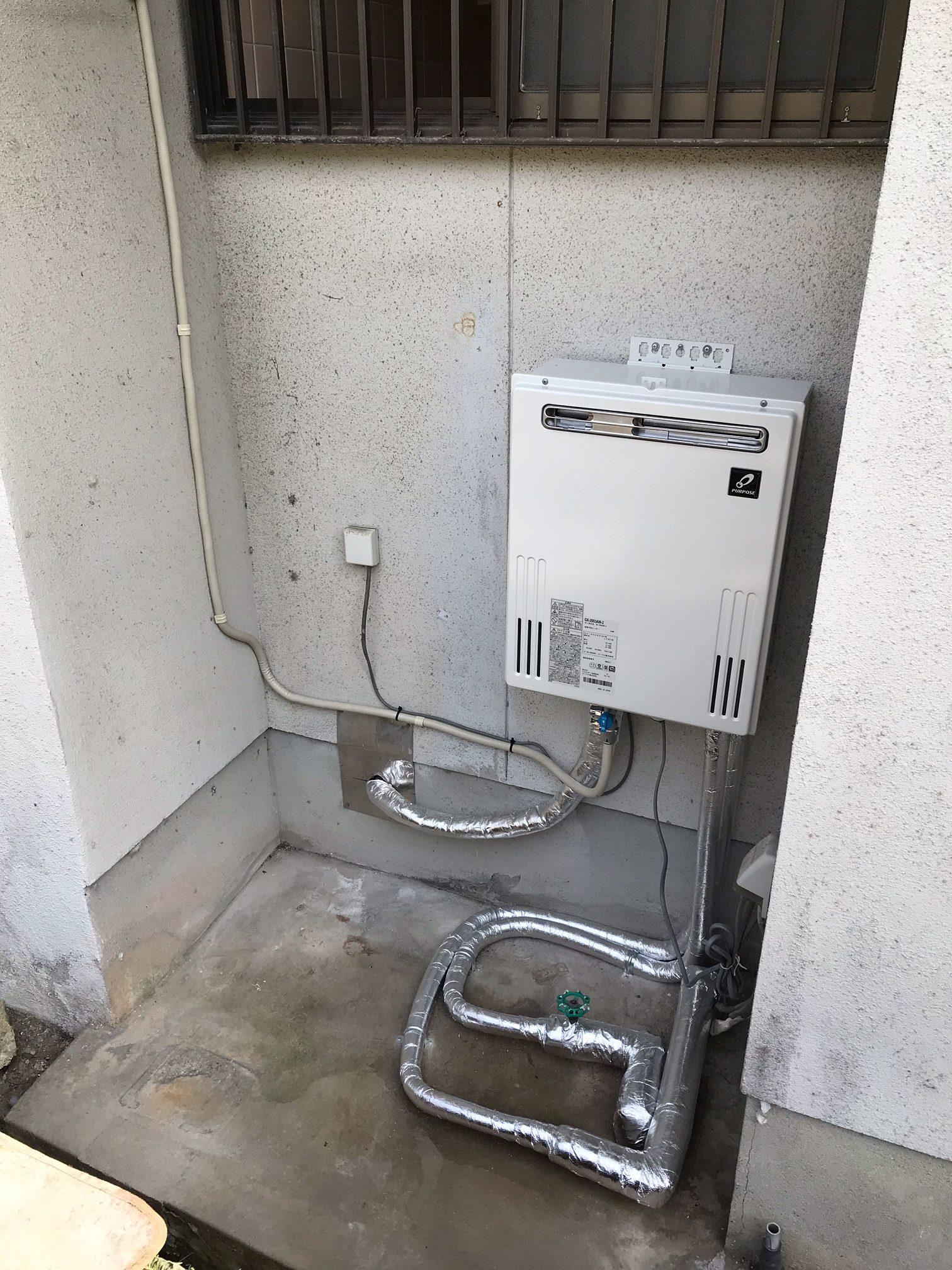 電気温水器からガス給湯器へ取替